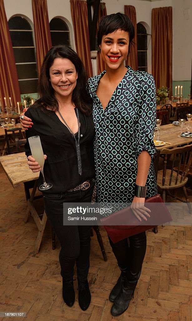 Julia Graham (L) and <a gi-track='captionPersonalityLinkClicked' href=/galleries/search?phrase=Zawe+Ashton&family=editorial&specificpeople=6579709 ng-click='$event.stopPropagation()'>Zawe Ashton</a> attend the Soho House and Grey Goose party to celebrate the CineCity film festival on November 13, 2013 in Brighton, England. Guests enjoyed a three course sharing menu prepared by Soho House and Grey Goose cocktails.