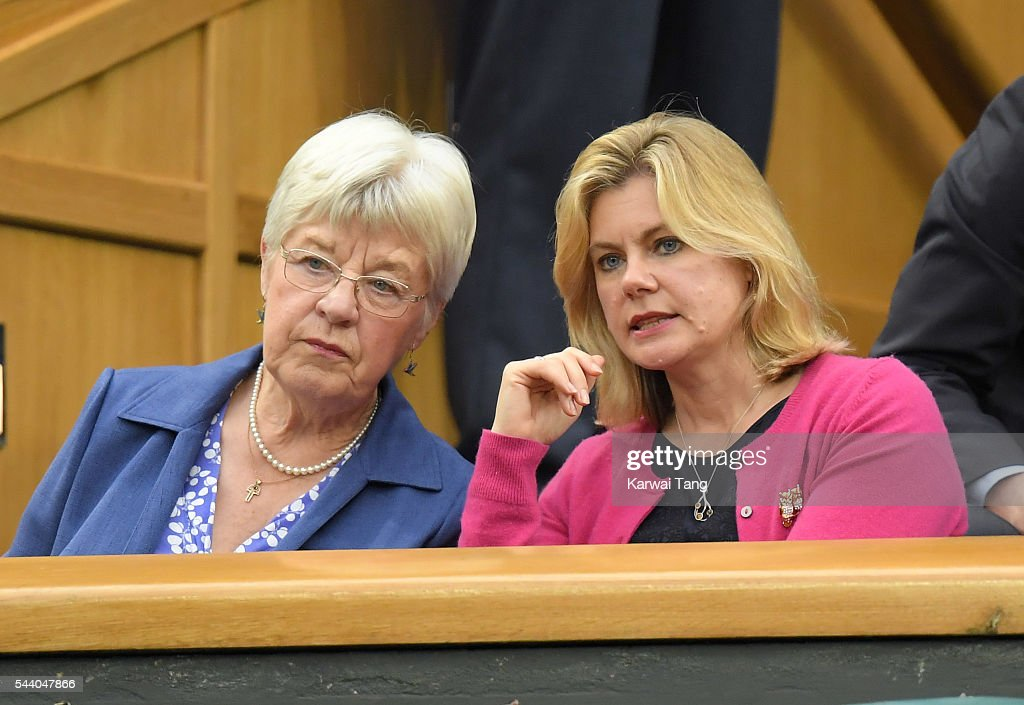 Julia Greening and Justine Greening attend day five of the Wimbledon Tennis Championships at Wimbledon on July 01, 2016 in London, England.