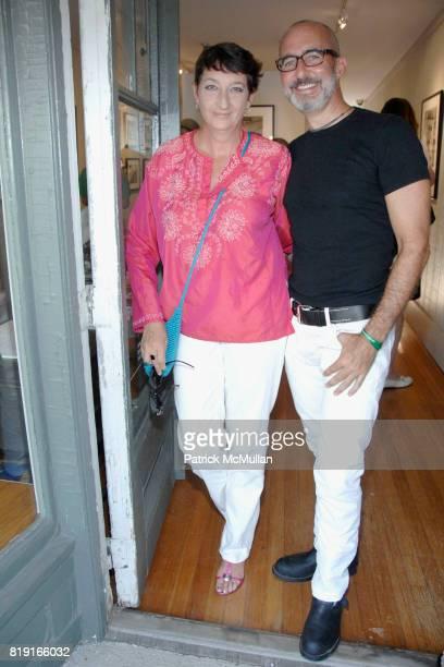 Julia Gruen and Tim O'Brien attend Opening Reception for JOHN JONAS GRUEN at Gallery B on July 17 2010 in Sag Harbor NY
