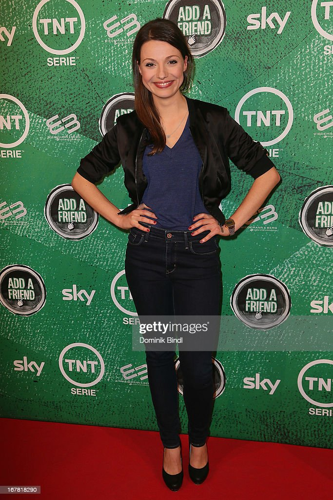 Julia Hartmann attends 'Add a Friend' Preview Event of TNT Serie at Bayerischer Hof on April 30, 2013 in Munich, Germany. The second season series premieres on May 6 (every Monday at 8:15 pm on TNT Serie).