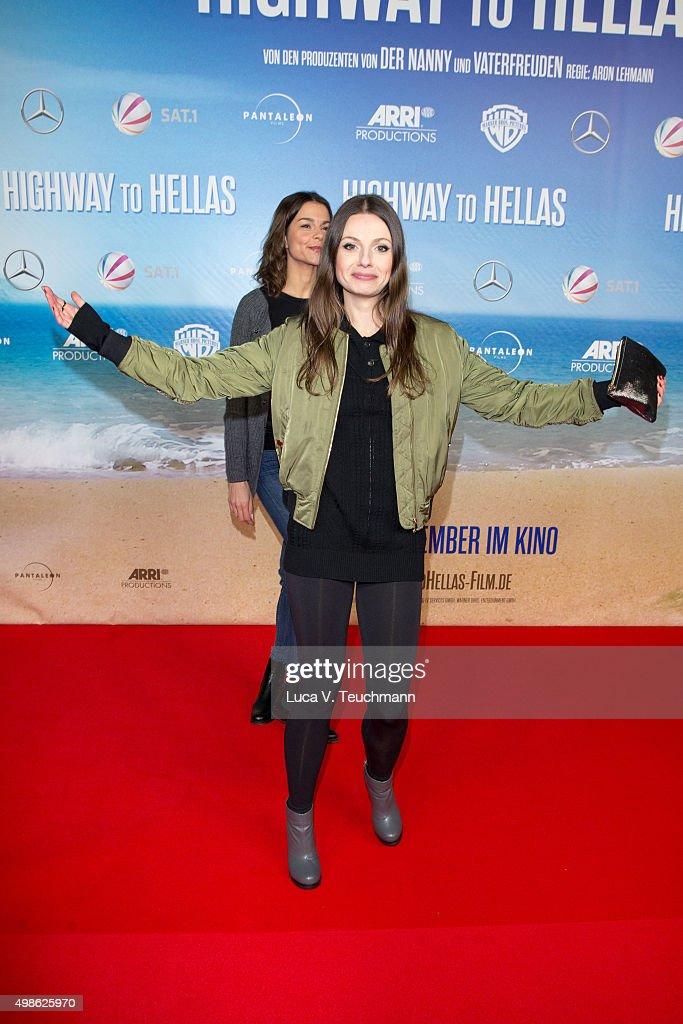 Julia Hartmann attends the 'Highway to Hellas' German Premiere at Kino in der Kulturbrauerei on November 24 2015 in Berlin Germany