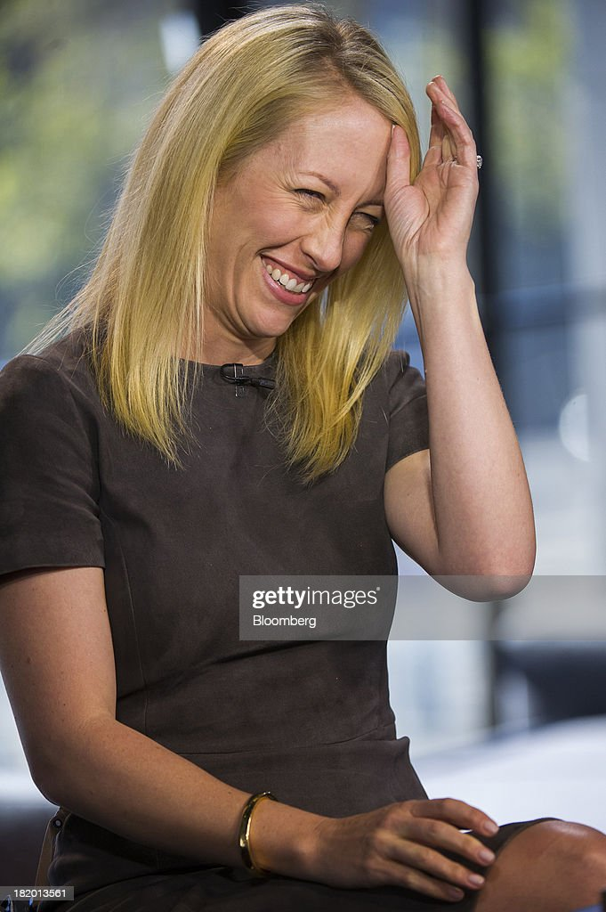 Julia Hartz, president and co-founder of Eventbrite Inc., laughs during a Bloomberg West television interview in San Francisco, California, U.S., on Thursday, Sept. 26, 2013. Eventbrite Inc. provides online event planning services. Photographer: David Paul Morris/Bloomberg via Getty Images
