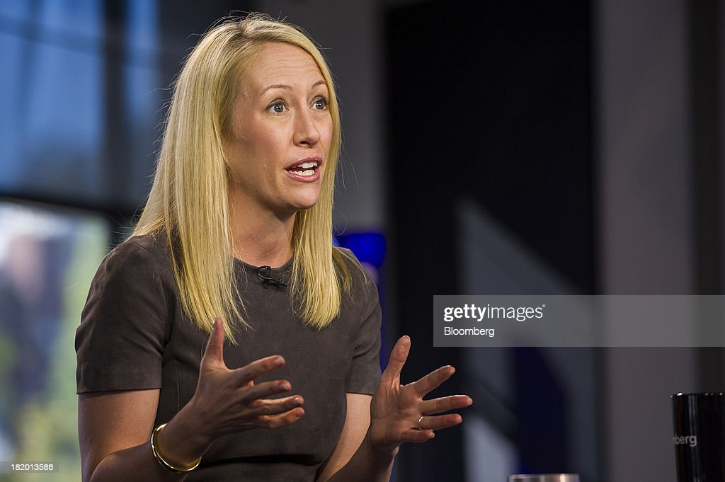 Julia Hartz, president and co-founder of Eventbrite Inc., speaks during a Bloomberg West television interview in San Francisco, California, U.S., on Thursday, Sept. 26, 2013. Eventbrite Inc. provides online event planning services. Photographer: David Paul Morris/Bloomberg via Getty Images