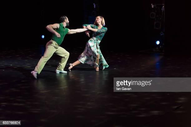 Julia Hiriart Urruty and Claudio Gonzalez perform 'Buenos Aires Aquí y Ahora' on stage as part of 'Sadler's Sampled' at Sadler's Wells Theatre on...