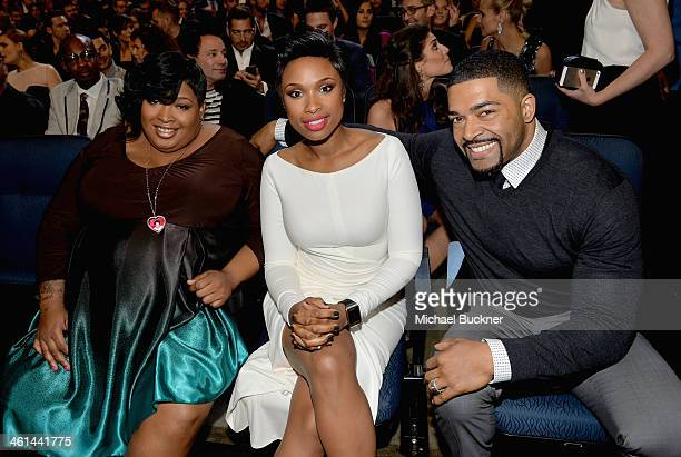Julia Hudson actresssinger Jennifer Hudson and pro wrestler David Otunga attend The 40th Annual People's Choice Awards at Nokia Theatre LA Live on...