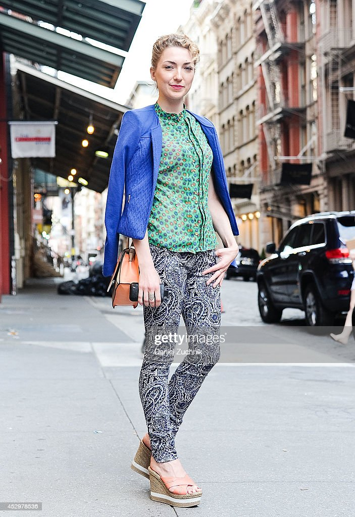 Julia is seen around Soho on July 31, 2014 in New York City.
