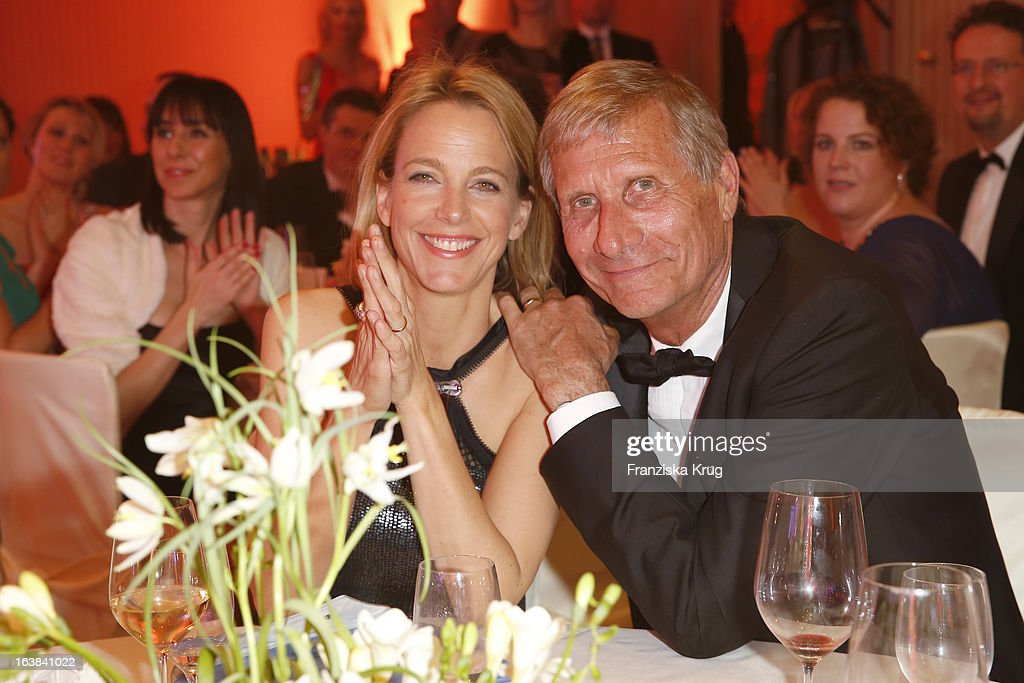 Julia Jaekel and her husband Ulrich Wickert attend the Gala Spa Award 2013 at the Brenners Park Hotel on March 16, 2013 in Berlin, Germany.