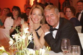 Julia Jaekel and her husband Ulrich Wickert attend the Gala Spa Award 2013 at the Brenners Park Hotel on March 16 2013 in Berlin Germany