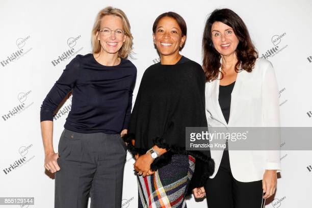 Julia Jaekel Janina Kugel and Brigitte Huber attend the BRIGITTEJobSymposium on September 28 2017 in Berlin Germany