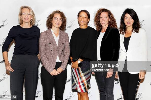 Julia Jaekel Kira Marrs Janina Kugel Miriam Wohlfarth and Brigitte Huber attend the BRIGITTEJobSymposium on September 28 2017 in Berlin Germany