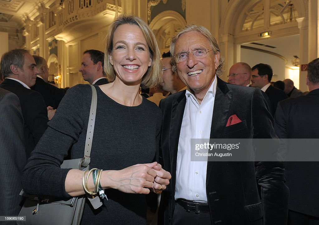 Julia Jaekel-Wickert and Manfred Baumann attend New Years`s reception of Hamburger Abendblatt at Hotel Atlantic on January 7, 2013 in Hamburg, Germany.