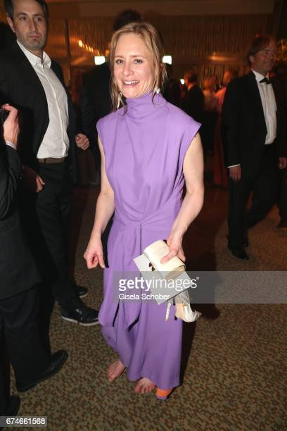 Julia Jentsch barefoot during the Lola German Film Award after party at Palais am Funkturm on April 28 2017 in Berlin Germany