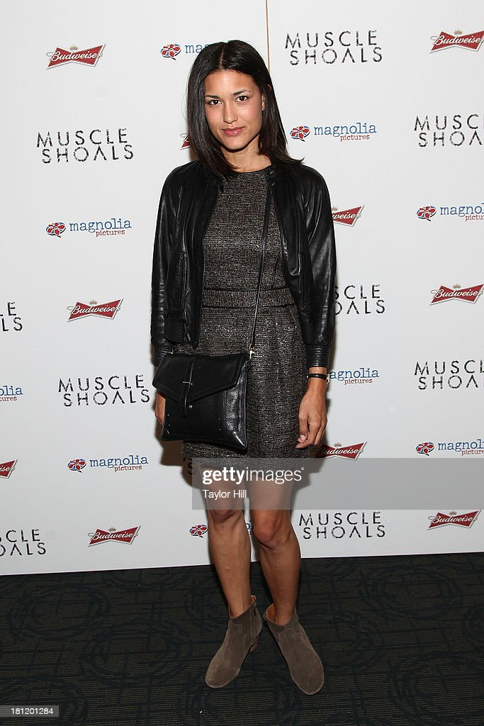 Julia Jones attends the 'Muscle Shoals' New York screening at Landmark Sunshine Cinemas on September 19, 2013 in New York City.