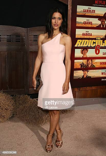 Julia Jones attends the premiere of Netflix's 'The Ridiculous 6' on November 30 2015 in Universal City California