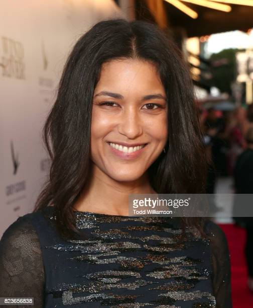 Julia Jones attends the premiere Of The Weinstein Company's 'Wind River' at The Theatre at Ace Hotel on July 26 2017 in Los Angeles California