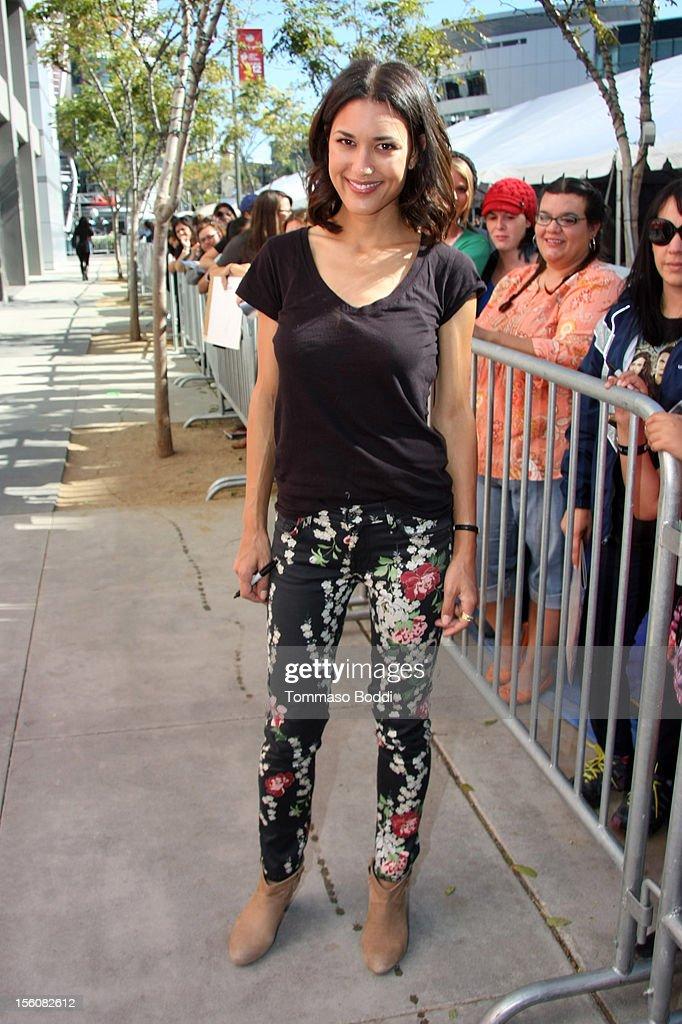 Julia Jones attends the Twilight fan camp breakfast at L.A. LIVE on November 11, 2012 in Los Angeles, California.
