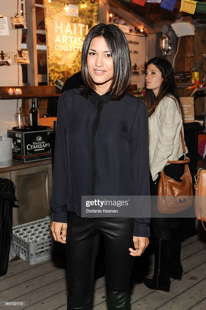 Julia Jones attends TOMS And Haitian Activist Bryn Mooser Host A Private Event To Celebrate Haitian Culture at TOMS Flagship Store on March 26, 2013 in Venice, California.