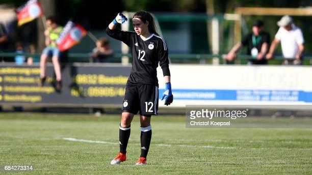 Julia Kassen of Germany is seen during the U15 girl's international friendly match between Germany and Netherlands at Getraenke Hoffmann Stadion on...
