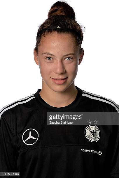Julia Kassen poses during the Germany U15 Girl's team presentation on September 27 2016 in Kamen Germany