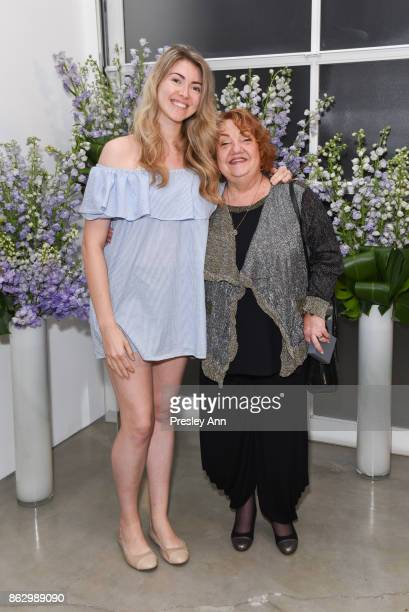 Julia Kirouhe and JoAnne Korten attend VIP Conversation for Women's Brain Health Initiative Hosted by Sharon Stone at Gagosian Gallery on October 18...