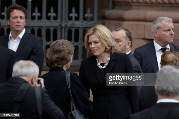 Julia Klockner the chair woman of the CDU in RhinelandPalatinate arrives at the Speyer Cathedral A funeral mass for the former German Chancellor...