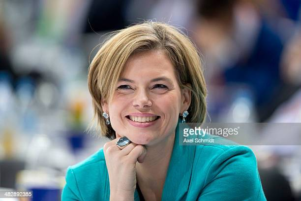 Julia Kloeckner deputy party leader of the CDU attends the CDU federal congress on April 5 2014 in Berlin Germany The CDU which is the majority...
