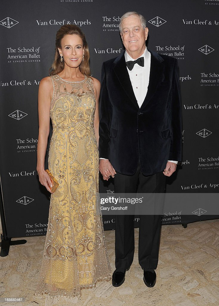 Julia Koch (L) and <a gi-track='captionPersonalityLinkClicked' href=/galleries/search?phrase=David+Koch+-+Businessman&family=editorial&specificpeople=15456822 ng-click='$event.stopPropagation()'>David Koch</a> attend the 2013 School Of American Ballet Winter Ball: A Night In The Far East at David H. Koch Theater, Lincoln Center on March 11, 2013 in New York City.