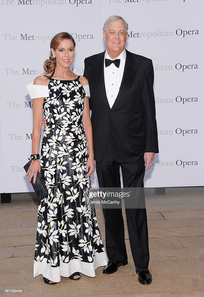 Julia Koch and David Koch attend the Metropolitan Opera Season Opening Production Of 'Eugene Onegin' at The Metropolitan Opera House on September 23, 2013 in New York City.