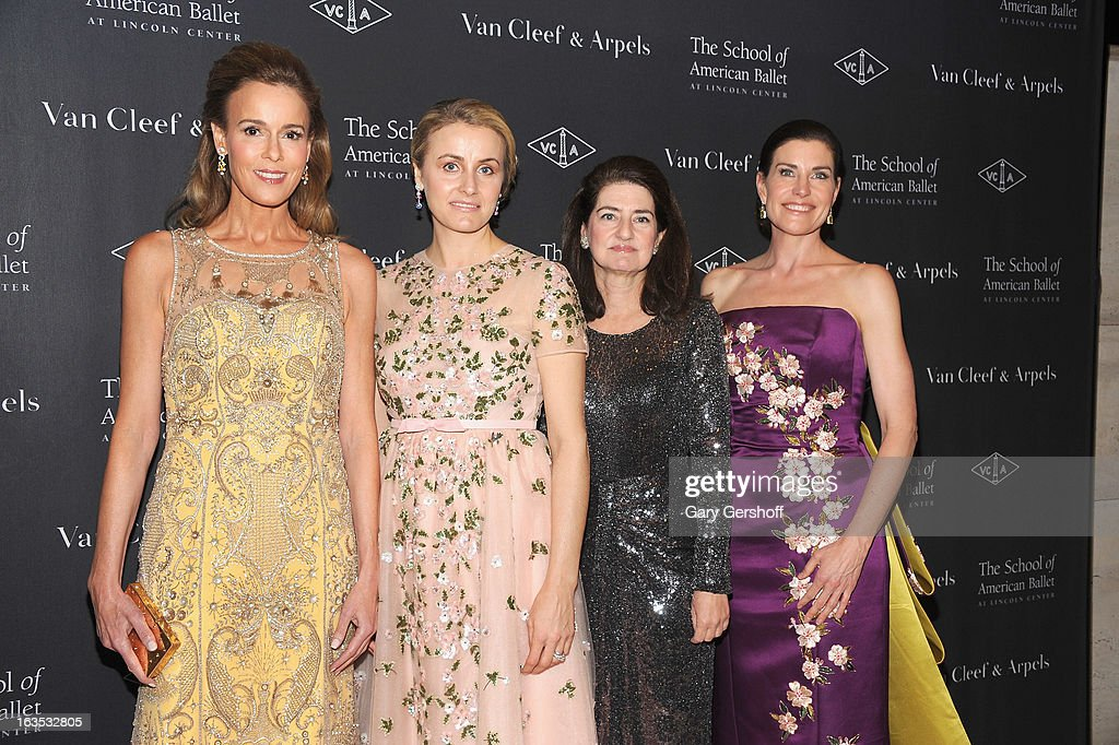 Julia Koch, Jenny Paulson, Laura Zeckendorf and Diana Di Menna attend the 2013 School Of American Ballet Winter Ball: A Night In The Far East at David H. Koch Theater, Lincoln Center on March 11, 2013 in New York City.