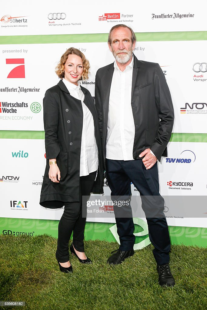 Julia Kordes and german actor Jochen Nickel attend the Green Tec Award at ICM Munich on May 29, 2016 in Munich, Germany.