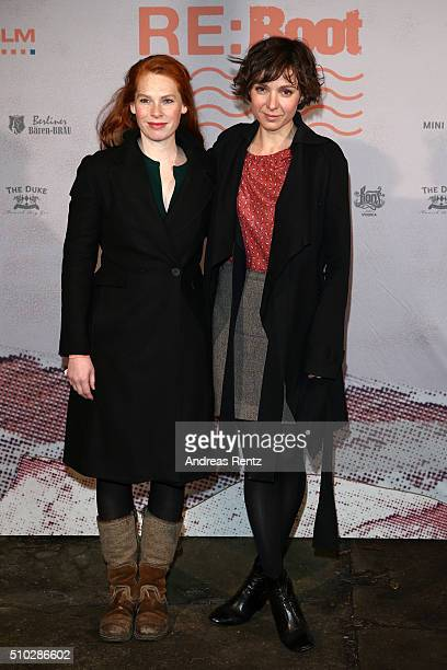 Julia Koschitz and guest attend the Bavaria Film Party REBOOT on February 14 2016 in Berlin Germany
