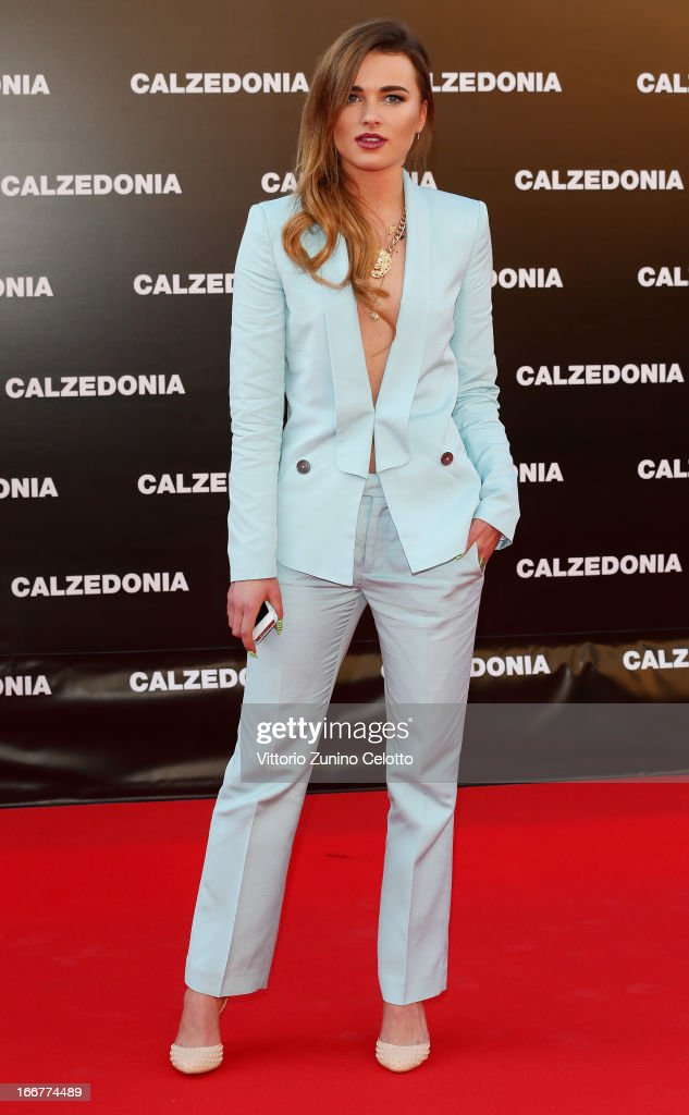 Julia Kuczynska attends Calzedonia Summer Show Forever Together on April 16, 2013 in Rimini, Italy.