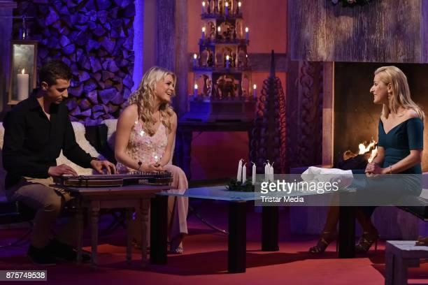 Julia Lindholm and Stefanie Hertel during the Stefanie Hertel Show 'Die grosse Show der Weihnachtslieder' on November 17 2017 in Suhl Germany