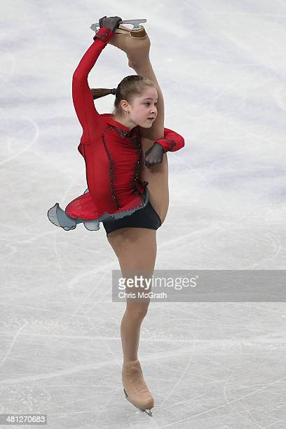 Julia Lipnitskaia of Russia competes in the Ladies Free Skating during ISU World Figure Skating Championships at Saitama Super Arena on March 29 2014...