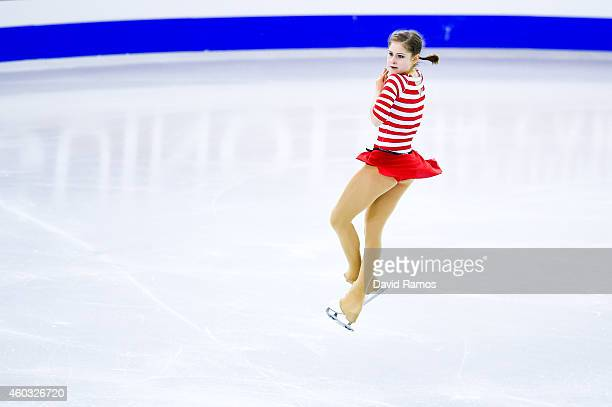Julia Lipnitskaia of Russia during the Ladies Short Program Final during day one of the ISU Grand Prix of Figure Skating Final 2014/2015 at Barcelona...