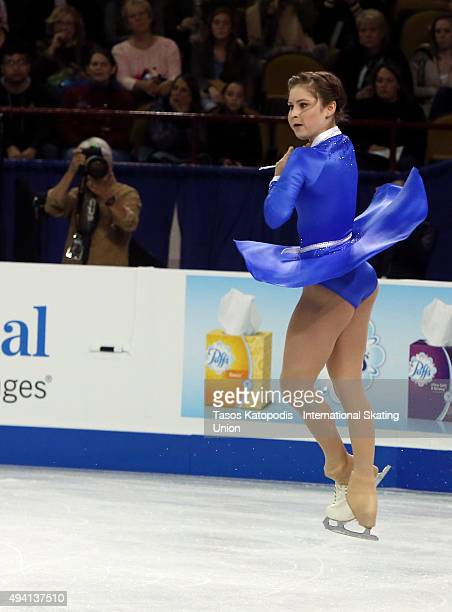 Julia Lipnitskaia of Russia in the ladies free skating during day two of the Progressive Skate America ISU Grand Prix of Figure Skating on October 24...