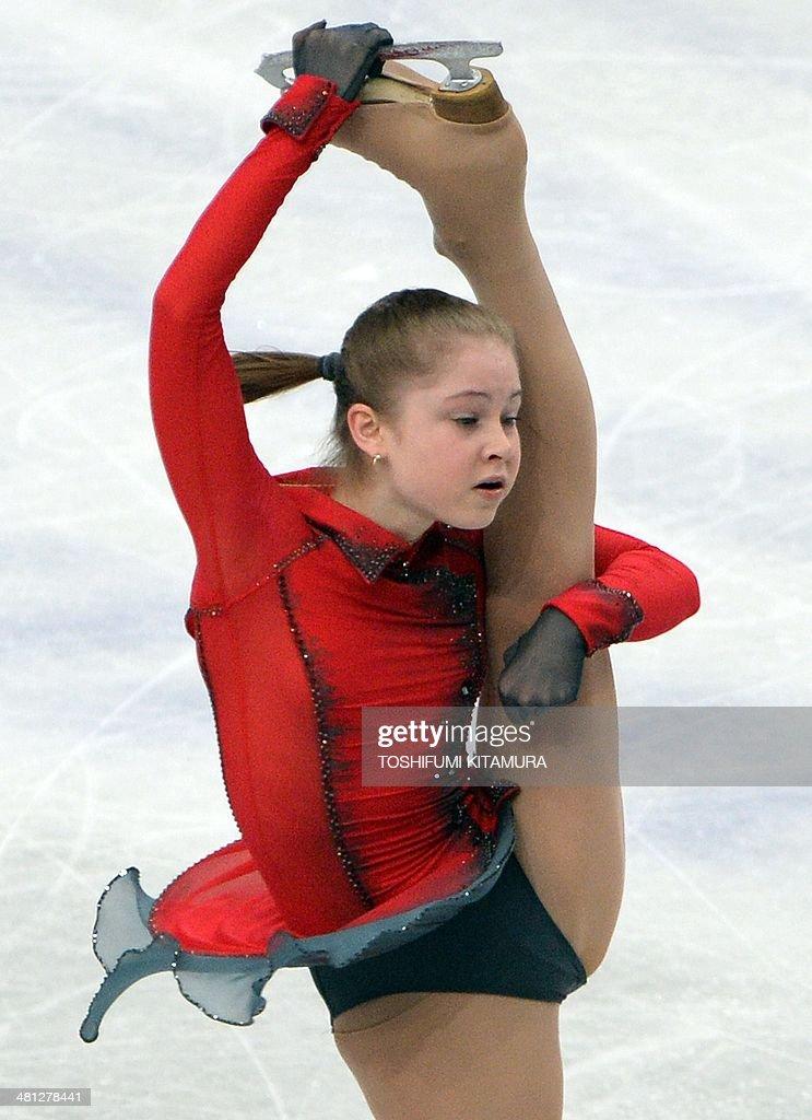 Julia Lipnitskaia of Russia performs during her women's singles free skating event at the world figure skating championships in Saitama, on March 29, 2014. AFP PHOTO / TOSHIFUMI KITAMURA
