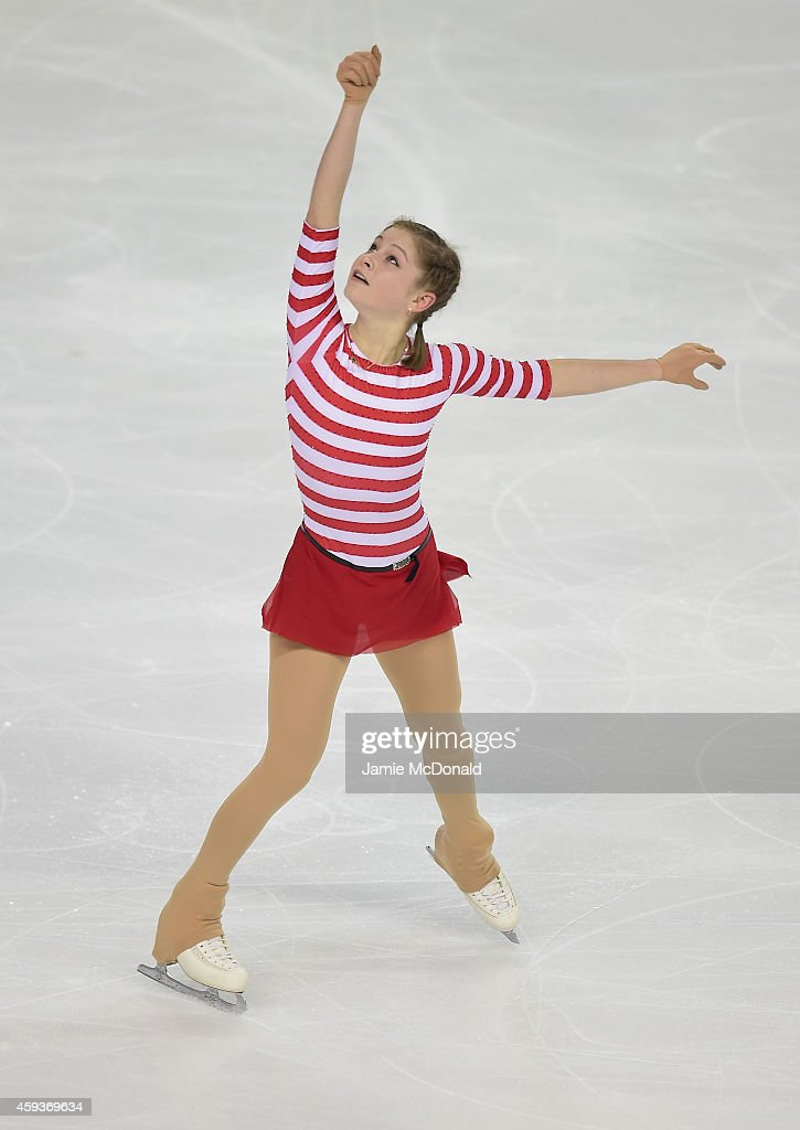 <a gi-track='captionPersonalityLinkClicked' href=/galleries/search?phrase=Julia+Lipnitskaia&family=editorial&specificpeople=8736202 ng-click='$event.stopPropagation()'>Julia Lipnitskaia</a> of Russia performs during the Ladies Short program during day one of Trophee Eric Bompard ISU Grand Prix of Figure Skating at the Meriadeck Ice Rink on November 21, 2014 in Bordeaux, France.