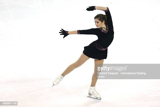 Julia Lipnitskaia of Russia skates during the ladies short program of the ISU Grand Prix at Meriadeck Ice Rink on November 13 2015 in Bordeaux France