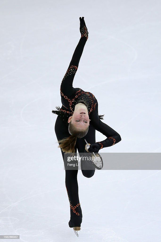 Julia Lipnitskaia of Russia skates in the Ladies Short Program during Cup of China ISU Grand Prix of Figure Skating 2012 at the Oriental Sports Center on November 2, 2012 in Shanghai, China.