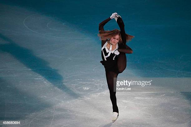 Julia Lipnitskaia performs her routine in the ISU Gala during day three of the Lexus Cup of China 2014 at Oriental Sport Center on December 8 2013 in...