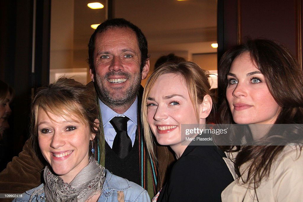 Gerard darel flagship opening with robin wright getty images - Julia livage lou vadim ...
