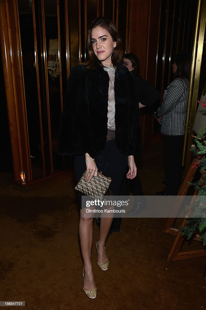Julia Loomis attends the after party for the 'On the Road' premiere at the Top of The Standard Hotel on December 13, 2012 in New York City.