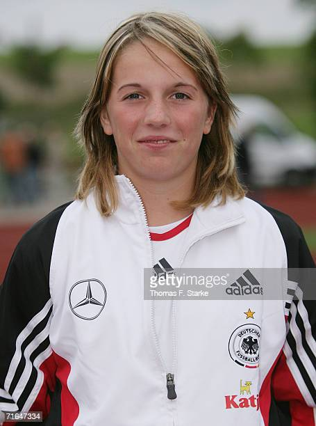 Julia Losert poses during the photo call of the Women's U15 German National Team on August 14 2006 in Uslar Germany