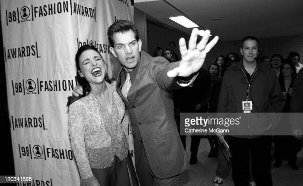Julia LouisDreyfus and Chris Isaak backstage at the VH1 Fashion Awards in October 1998 in New York City New York