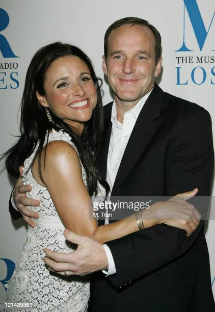 Julia LouisDreyfus and Clark Gregg during The Museum of Television Radio Presents 'New Adventures of Old Christine' Arrivals at Museum of Television...