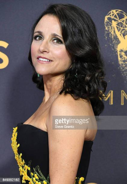 Julia LouisDreyfus arrives at the 69th Annual Primetime Emmy Awards at Microsoft Theater on September 17 2017 in Los Angeles California
