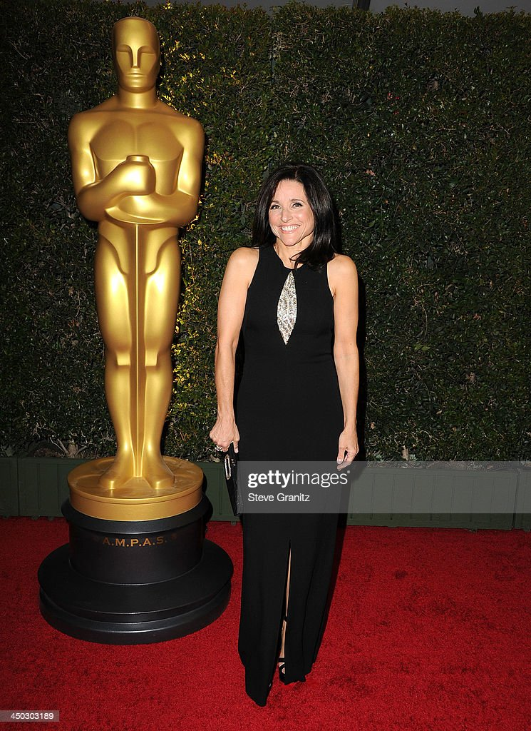 <a gi-track='captionPersonalityLinkClicked' href=/galleries/search?phrase=Julia+Louis-Dreyfus&family=editorial&specificpeople=208965 ng-click='$event.stopPropagation()'>Julia Louis-Dreyfus</a> arrives at the The Board Of Governors Of The Academy Of Motion Picture Arts And Sciences' Governor Awards at Dolby Theatre on November 16, 2013 in Hollywood, California.