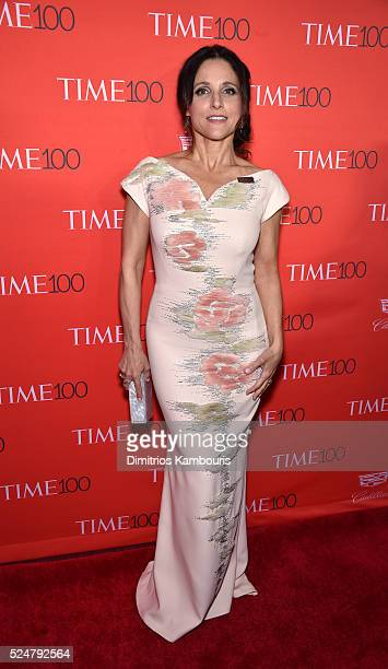 Julia LouisDreyfus attends 2016 Time 100 Gala Time's Most Influential People In The World red carpet at Jazz At Lincoln Center at the Times Warner...