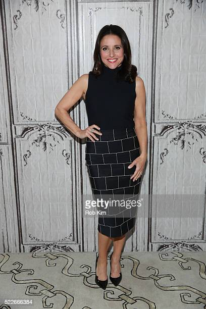 Julia LouisDreyfus attends AOL Build Series to discuss her TV show 'Veep' at AOL Studios In New York on April 20 2016 in New York City